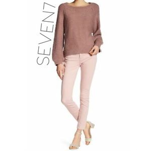 Seven7 Dusty Rose blush skinny ankle jeans 10 30
